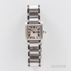 "Cartier ""Tank Francaise"" Stainless Steel Wristwatch"