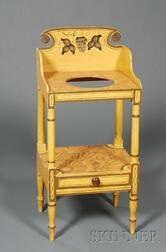 American Classical Stencil-decorated and Faux-grained Washstand