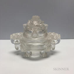 Rock Crystal Tripod Covered Censer