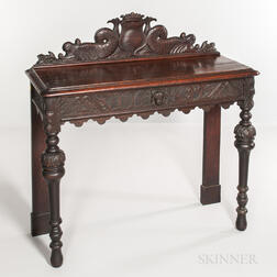 Carved Oak Side Table