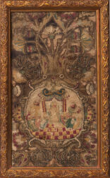 Embroidered Religious Fragment