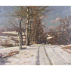 William LeValley (American, 19th/20th Century)  Winter in the Berkshire Hills
