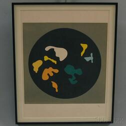 Hans Arp (French, 1886-1966)      Plate   from LE SOLEIL RECERCLE