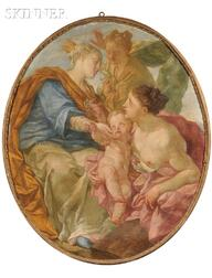 French School, 18th Century      Allegory of Charity