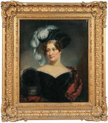 Philip Augustus Gaugain (British, fl. 1783-1847)      Portrait of Harriett Webb Lucas