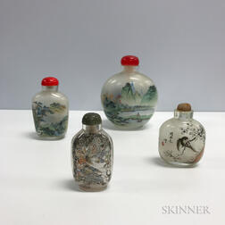 Four Inside-painted Snuff Bottles