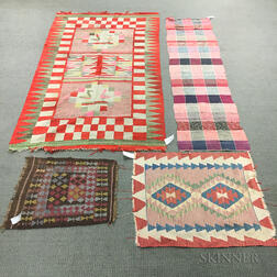 Four Flatweave Rugs