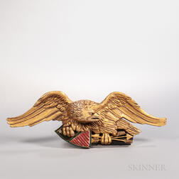 Carved and Gilt Eagle Wall Plaque