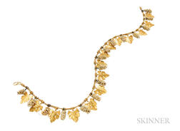 Archaeological-Revival Gold and Glass Necklace, Castellani
