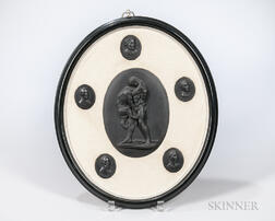 Framed Wedgwood Black Basalt Group