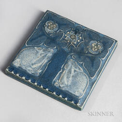 Rookwood Pottery Footed Tile