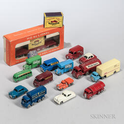 Small Group of Early Lesney Matchbox Cars and Trucks
