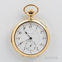Benedict Brothers 18kt Gold Minute Repeater Open-face Watch