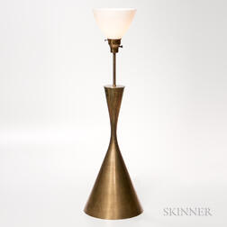 Arredoluce Monza Hourglass Brass Table Lamp