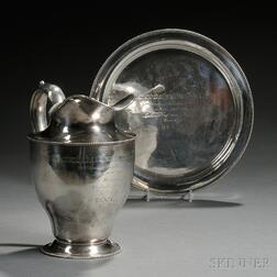 Two Dominick & Haff Sterling Silver Seawanhaka Corinthian Yacht Club Trophies Won by   the Skate