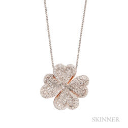 18kt Gold and Diamond Pendant Necklace