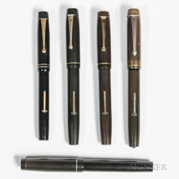Five English Fountain Pens