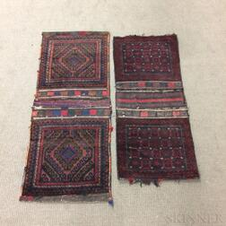 Two Pairs of Complete Baluch Saddlebags,