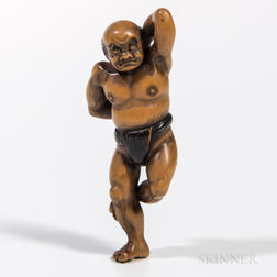 Carved Boxwood Netsuke
