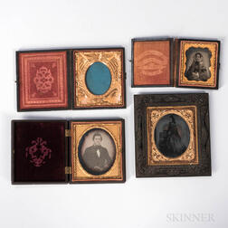 Four 19th Century Photographic Items