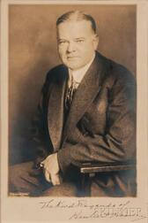 Hoover, Herbert (1874-1964) Signed Photo.