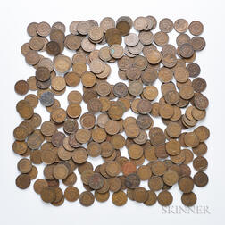 Approximately 278 Indian Head Cents