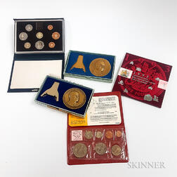 Small Group of World Coins and Medals