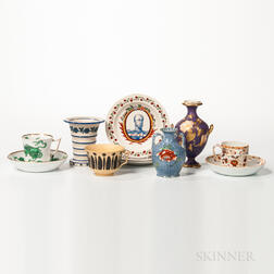 Nine Pottery and Porcelain Items