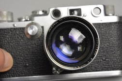Leica IIIc and a IIIf Cameras, Lenses, and Accessories