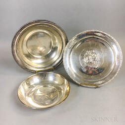 Three Pieces of Sterling Silver Hollowware