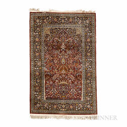 Silk Kerman Prayer Rug