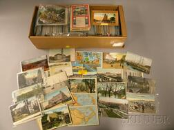 Approximately 1000 Early 20th Century Massachusetts Postcards