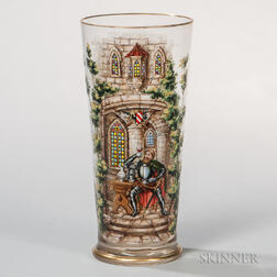 "Enameled Glass ""Historismus"" Vase"