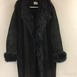 Akris Black Lambskin Coat
