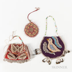 Three Northeast Beaded Pouches
