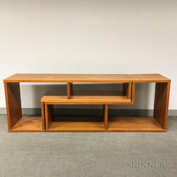 Mid-Century Modern Two-piece Teak Stacking Shelf
