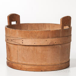 Pine and Ash Handled Tub