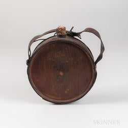 Confederate Gardner Pattern Canteen Captured by Charles Hudson, 28th Wisconsin Volunteer Infantry