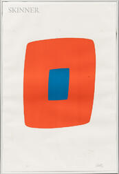 Ellsworth Kelly (American, 1923-2015)      Orange with Blue