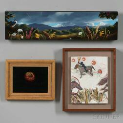 Three Small Oil on Board Paintings