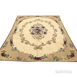 Room-size Hooked Rug