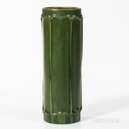 Tall Hampshire Pottery Cylindrical Vase