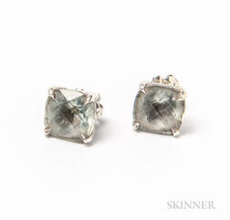 Tiffany & Co. Sterling Silver and Gemstone Earstuds