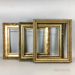 Three 19th and 20th Century Gilt-gesso Frames