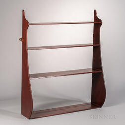 Mahogany Whale-end Four-tier Hanging Shelf