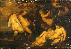 After Peter Paul Rubens (Flemish, 1577-1640)  Bacchanalia.