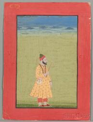 Miniature Portrait of a Mughal Ruler