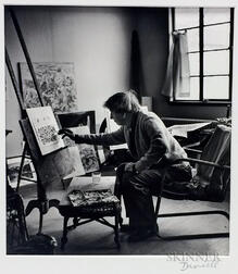 George Daniell (American, 1911-2002)      John Marin in His Studio