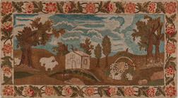Large Pictorial Yarn Sewn Rug