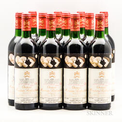 Chateau Mouton Rothschild 1986, 12 bottles